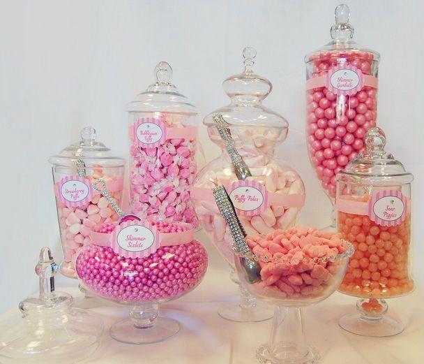 Candy Buffet Package Candy Buffet Set Candy Buffet Jars Pink
