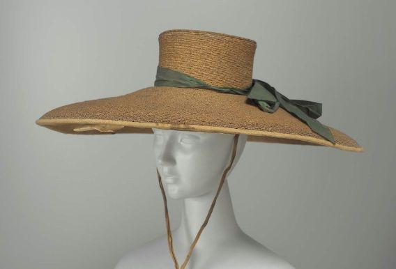 Woman's Large Milan Vintage Straw Hat.