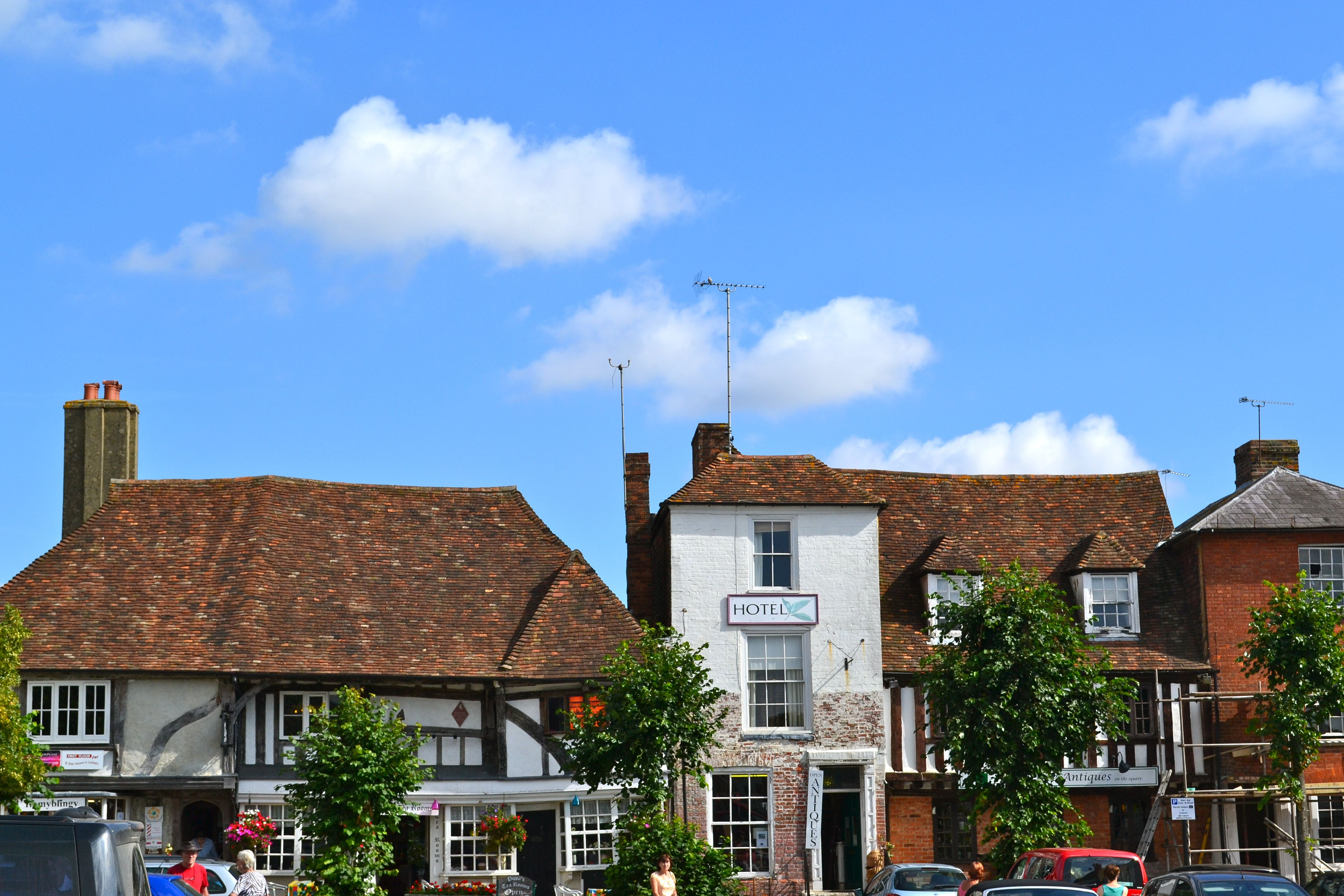 The village of Lenham in the borough of Maidstone, Kent