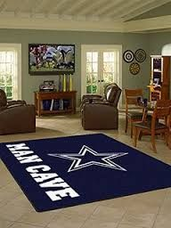 White Rugs Dallas Cowboys Man Cave Ideas