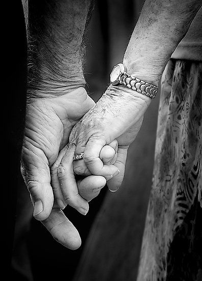 Elderly Holding Hands