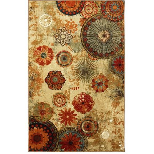 Caravan Medallion Area Rug Burnt Orange And Teal
