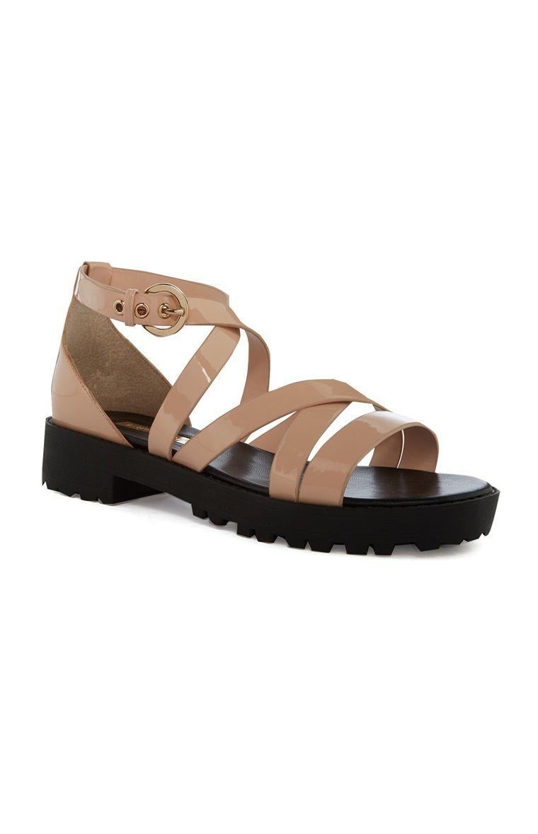 Black sandals primark - Primark Nude Strap Sandal