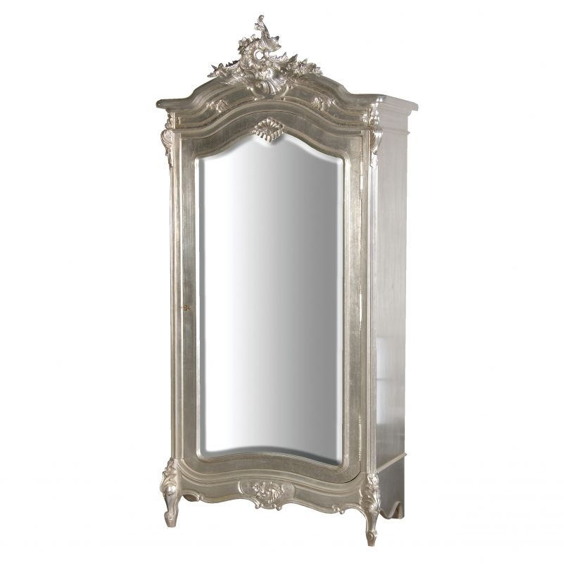 Verona Silver Leaf Lexie Armoire Silver Furniture Armoire
