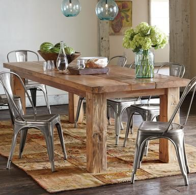 I'd Love A Slab Table Top Or Something Raw & Natural Looking Awesome Wood Dining Room Chairs 2018