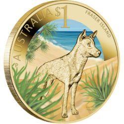 Celebrate Australia – World Heritage Sites – Fraser Island 2012 $1 Coin