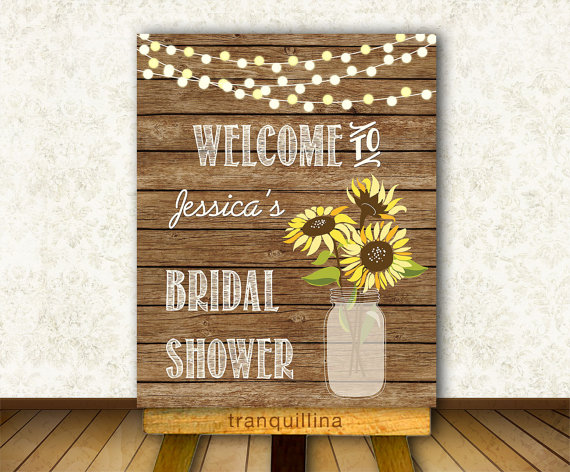 Bridal Shower Welcome Sign Printable, Wedding Welcome Sign, DIY wedding Sign, Fall wedding Ideas. Matching wedding invitation available at: tranquillina.etsy.com