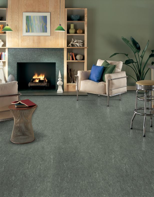 Linoleum Flooring Is Made From Natural Materials Like Linseed Oil