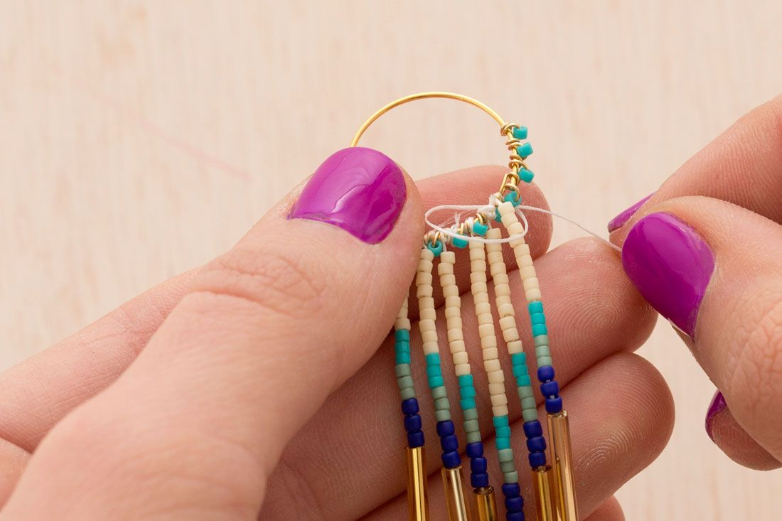 You Need To Make These Beaded Fringe Earrings Via Brit Co