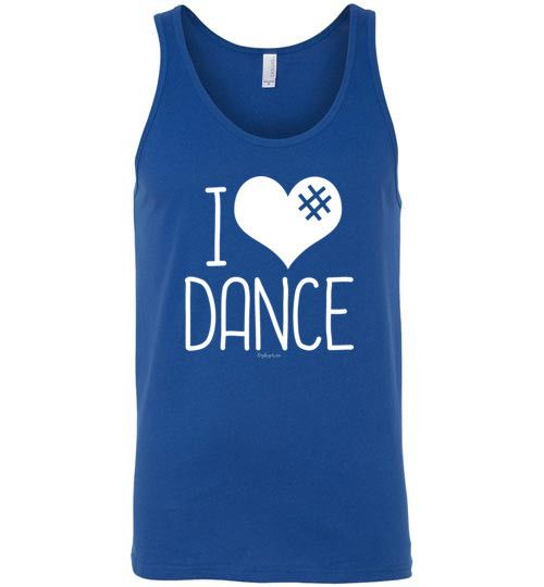 Golly Girls: I Hashtag Heart Dance Canvas Tank Top (Adult Sizes)