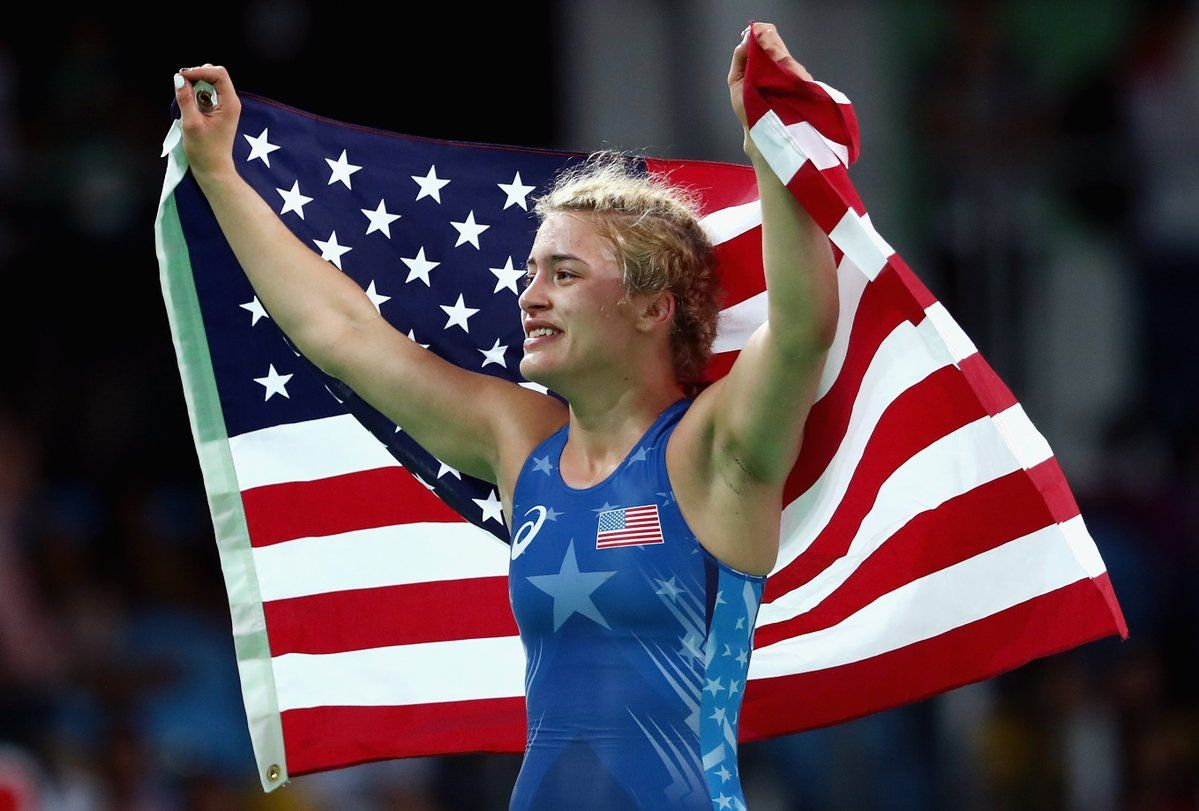 NBC Olympics ‏@NBCOlympics  Aug 18 Watch Helen Maroulis win a historic wrestling #gold for @TeamUSA: http://bit.ly/2b0aBtl