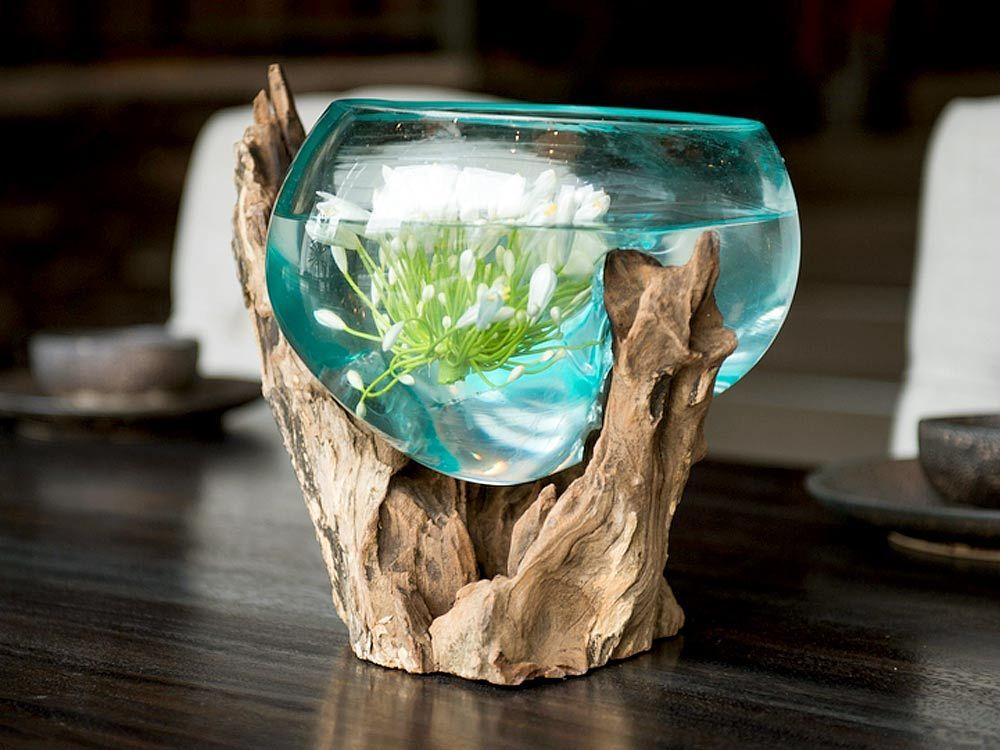 Lovely Artemano Blown Glass Bowl On Teak Base · Terrarium DiyGlass ContainersDetached  ... Part 26