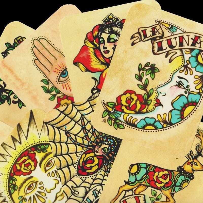 Folk Art POSTCARDS Mexican Loteria Tattoo Art