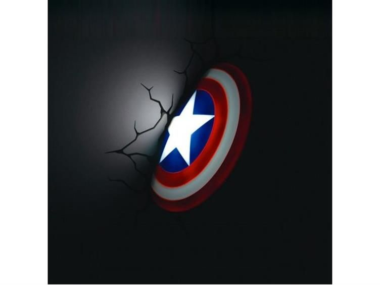 Marvel Comics 3D LED Wall Decal   Captain America Shield   Marvel Comic  Products Art Work