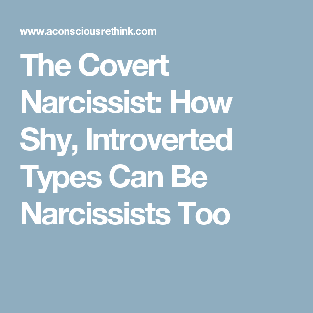 Shy covert narcissism