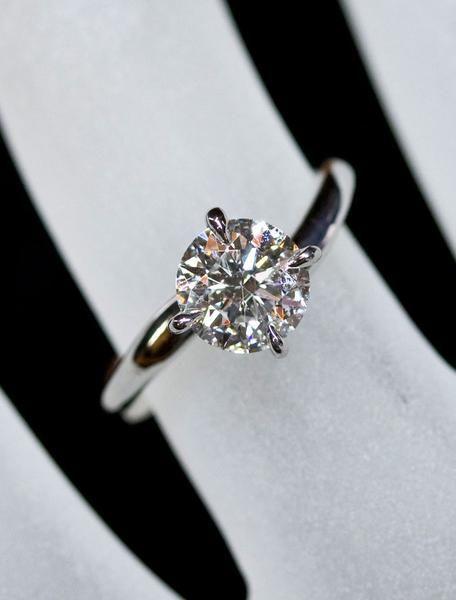 Unique Engagement Rings Ken & Dana Design - Aurora hand view