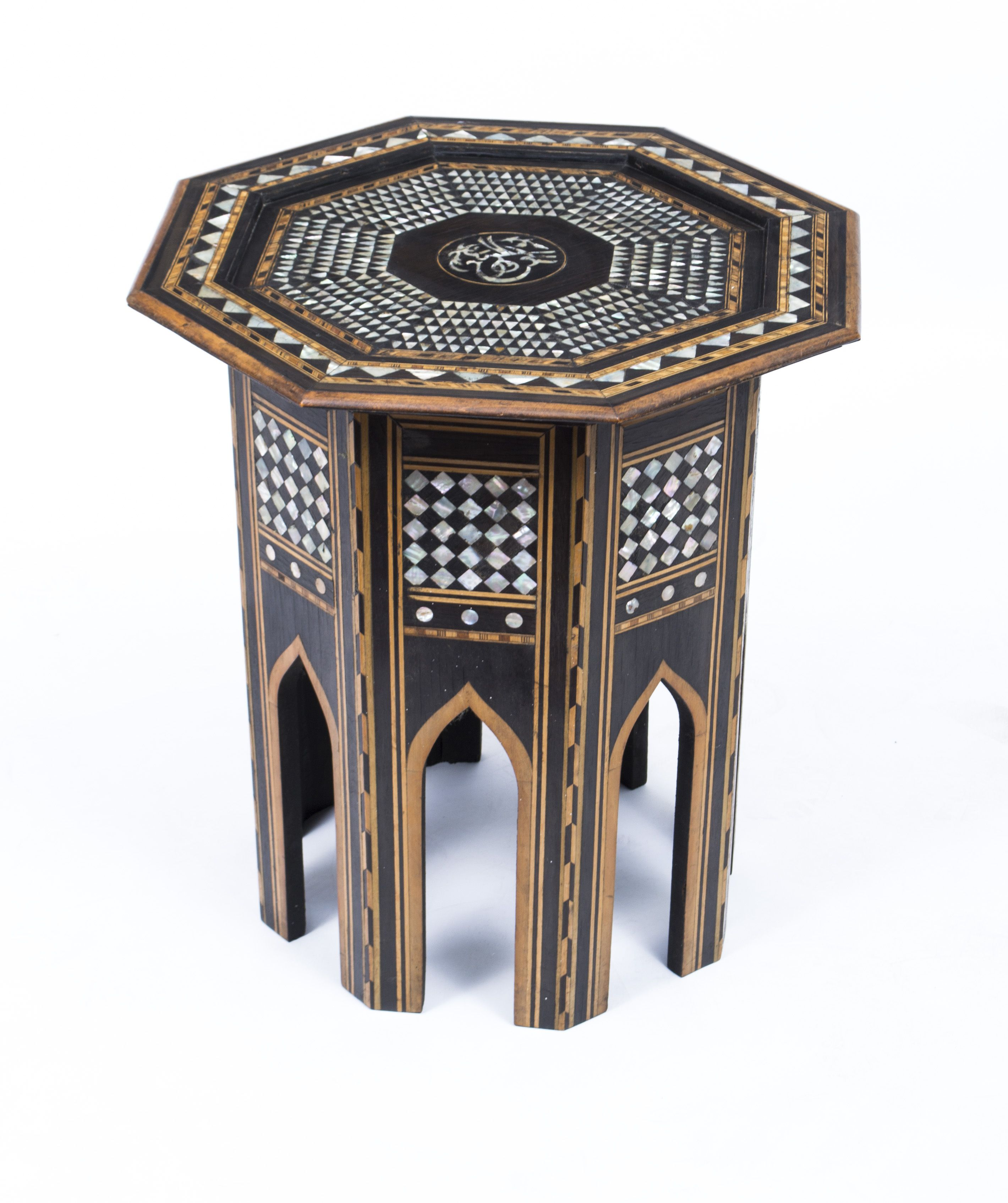 Mid century wheat sheaf coffee table irish antique dealers - This Is A Beautiful Antique Persian Inlaid Octagonal Occasional Table C1900 In Date The Table Is Exquisitely Crafted With Cut Out Arabesque Shap