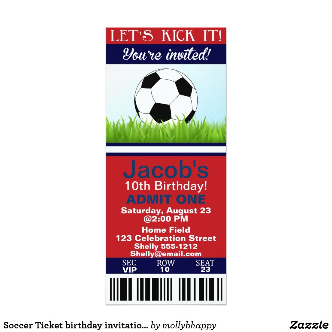 Fantastic Soccer Party Invitation Template Photos - Invitations and ...