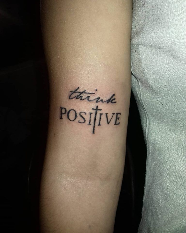 think positive tattoo - 768×960