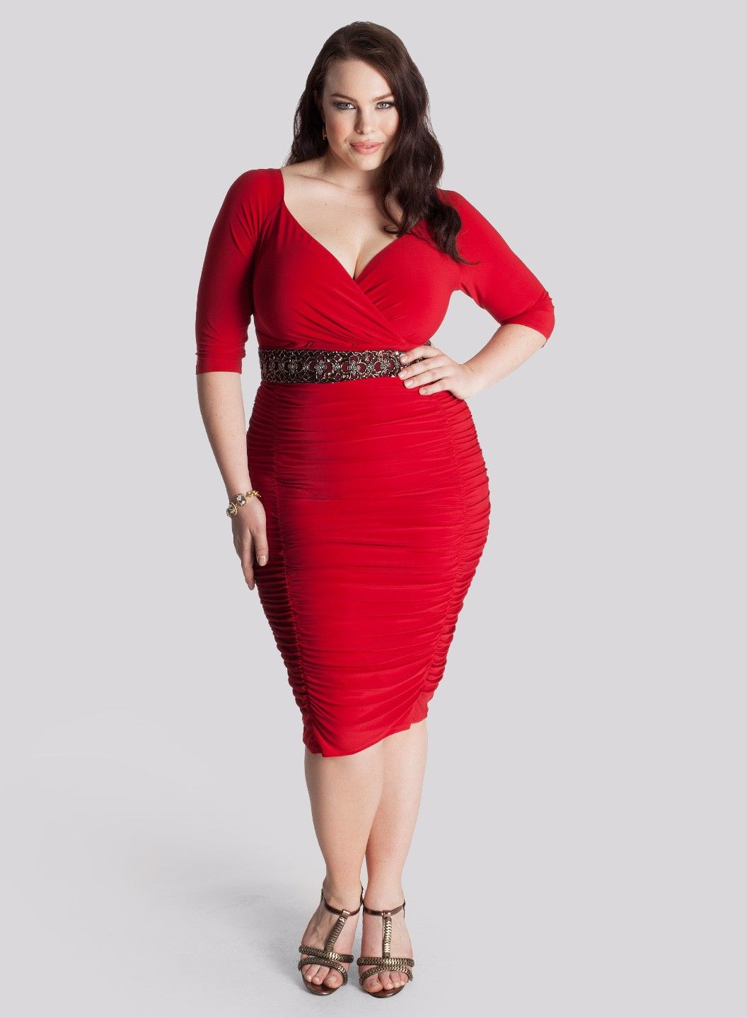 plus size red dress | A woman should be 2 things...classy & fabulous ...