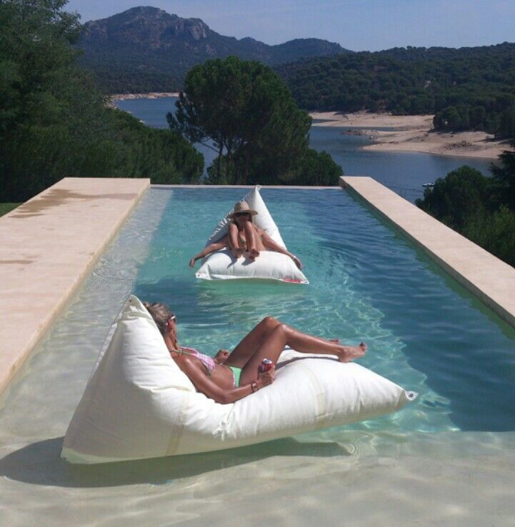 Outstanding Dvelas Genois Floating Bean Bag In 2019 Patio Water Caraccident5 Cool Chair Designs And Ideas Caraccident5Info