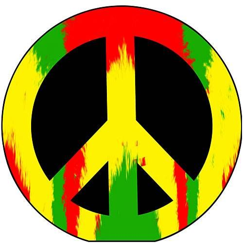 4 Ft 10 In Rasta Peace Sign Standee Peace Sign Art Peace Sign Personalised Wall Stickers
