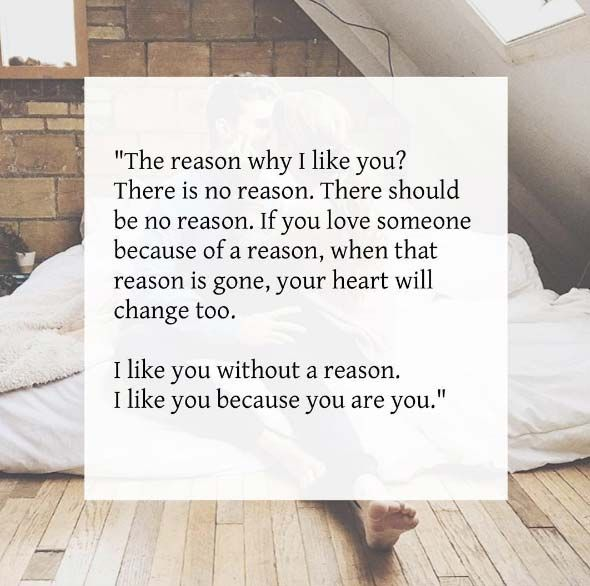 the reason why i like you there is no reason there should be no