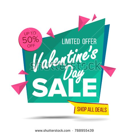 Valentine S Day Sale Banner Vector Advertising Love Poster