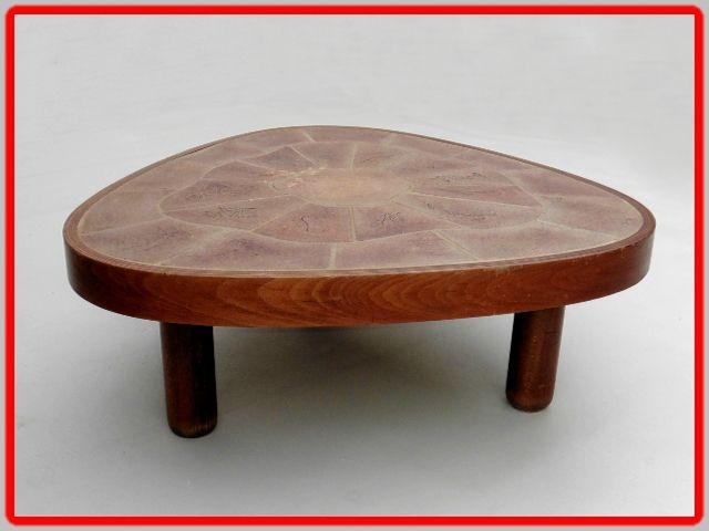 BARROIS VINTAGE Signée TABLE BASSE Meubles VALLAURIS déco bf67gyY