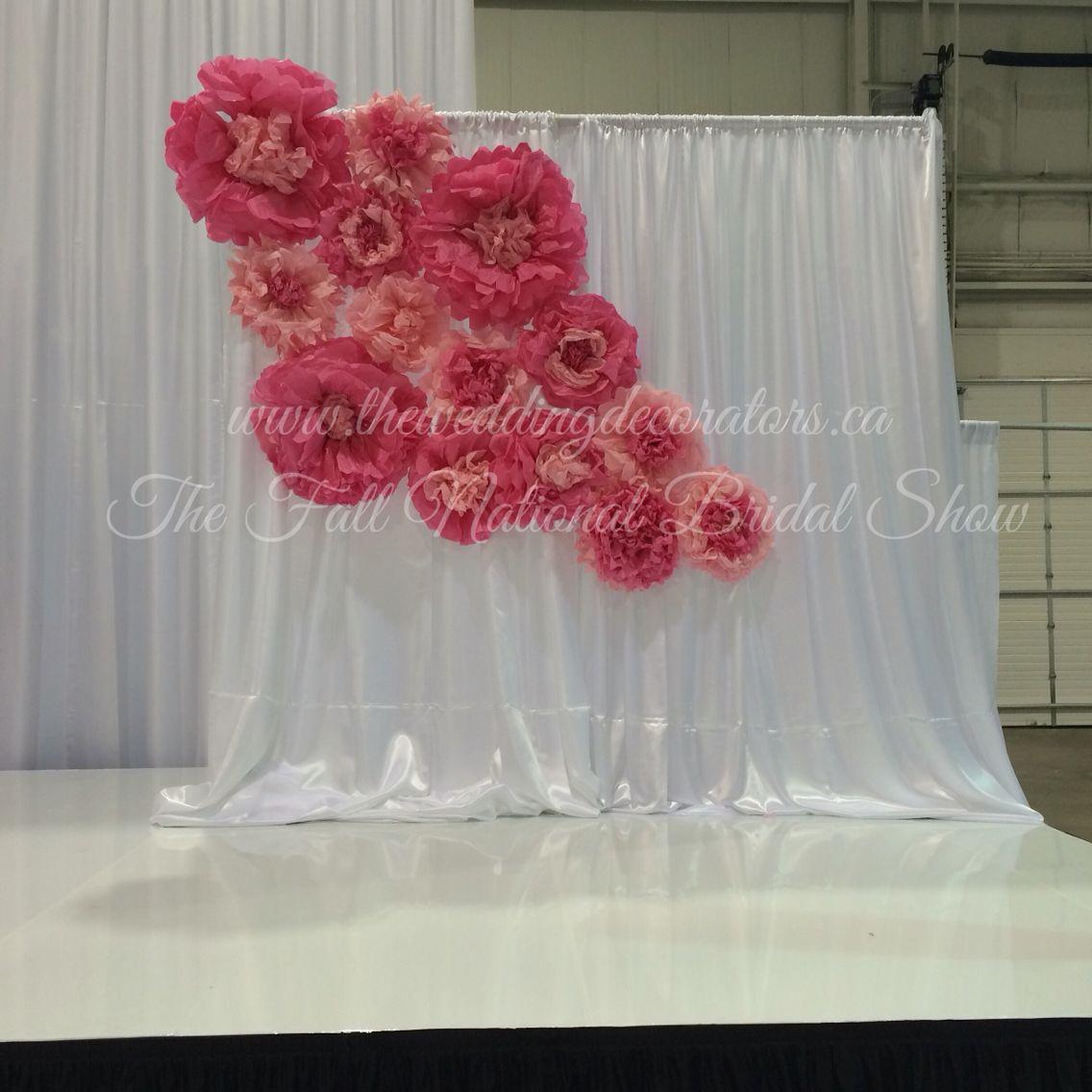 Paper Flower Backdrops Bridal Show Stage Decor Paper Flower