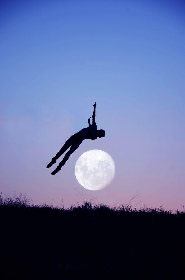 gymnastic jump over the moon