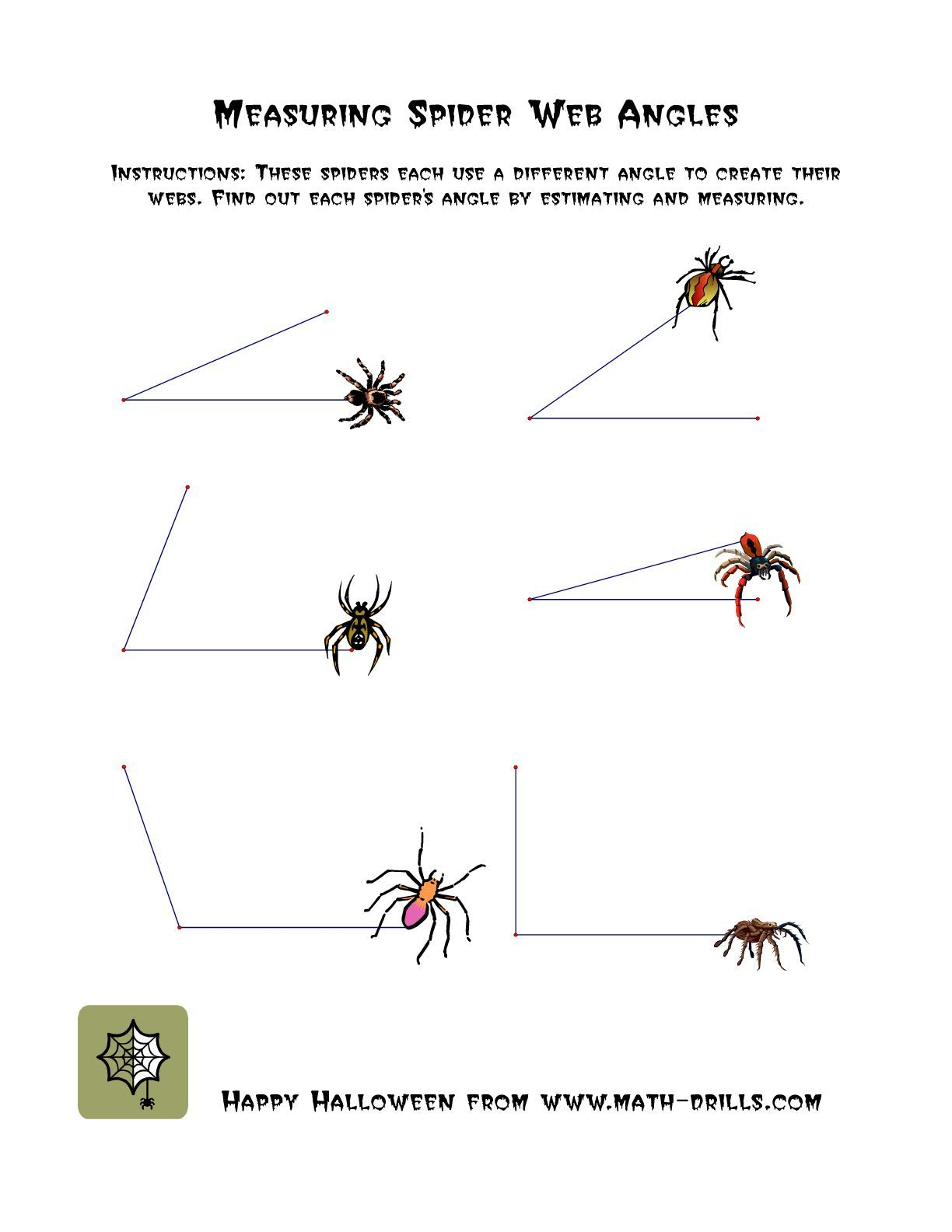 The Measuring Spider Web Angles