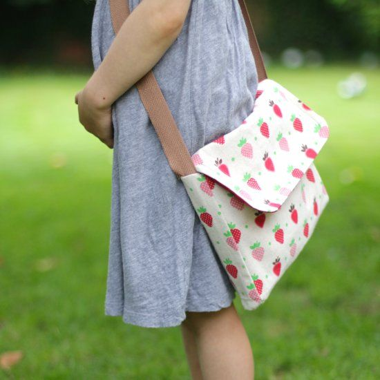 Make a gorgeous bag for your wee one to carry all their bits and bobs...one they'll love forever!