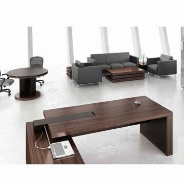 Superior Office Furniture/veneer Office Desk, Modern, Walnut Color, L Shaped