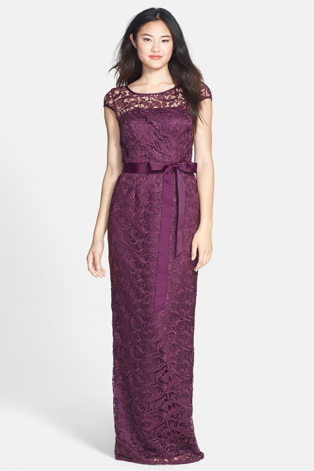 Adrianna Papell | Lace Gown | Trajes de fiesta, Vestido largo y ...