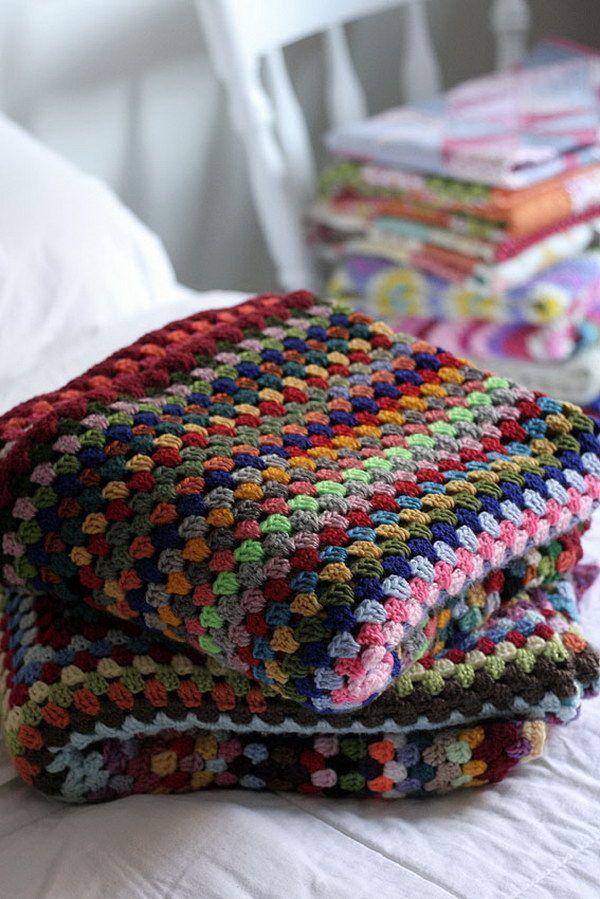Photo of Huge grandma square blankets.