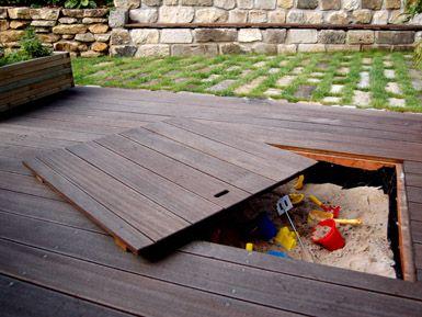 aufbewahrung in terrasse garten pinterest terrasse g rten und sandkasten. Black Bedroom Furniture Sets. Home Design Ideas