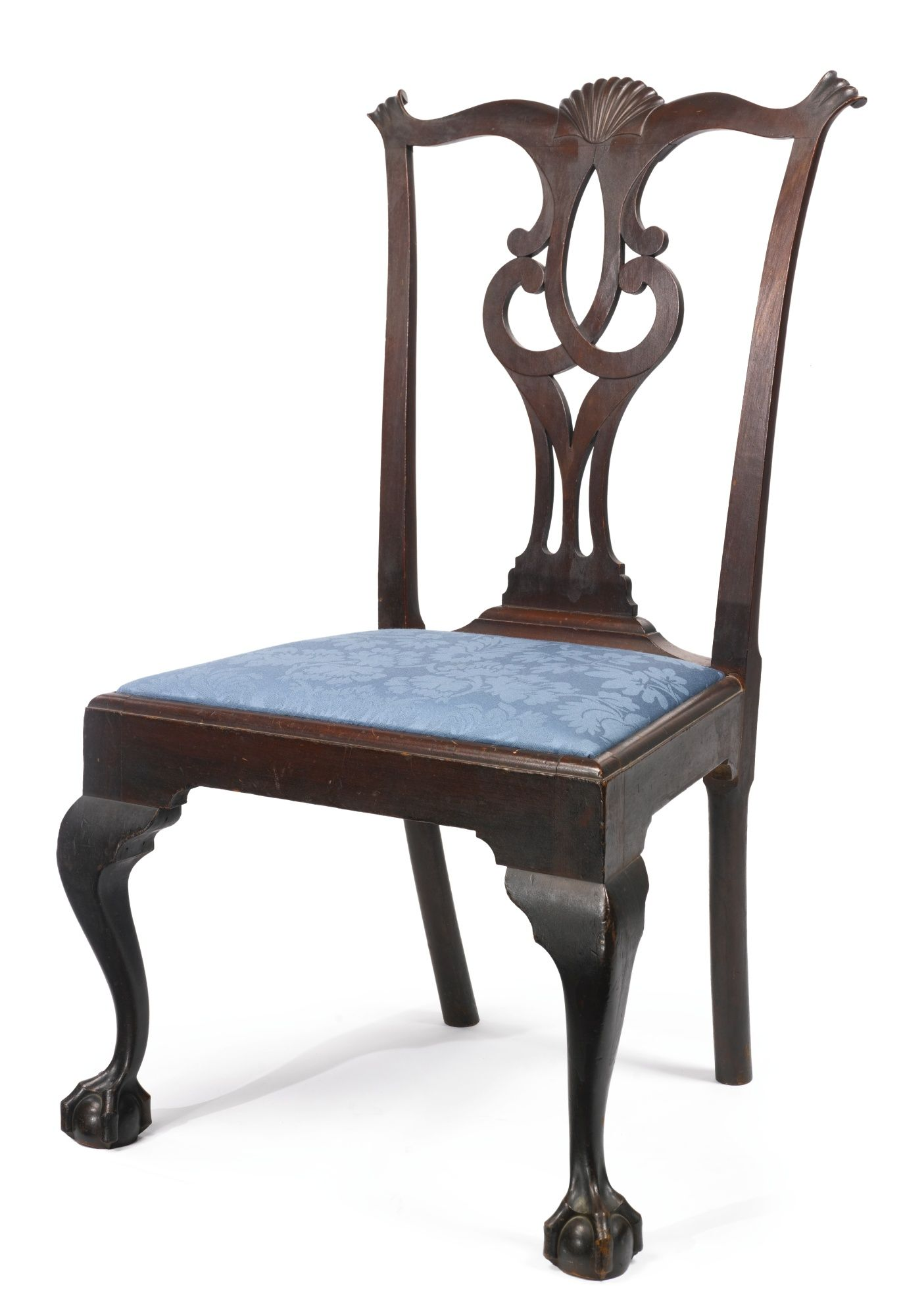 Chippendale Carved Cherrywood Side Chair