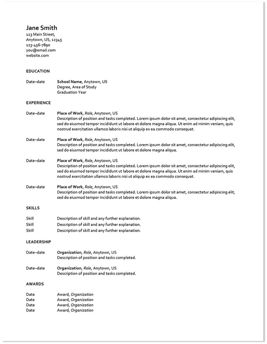 How To Design Your Resume In A Word Doc  Word Doc Template And