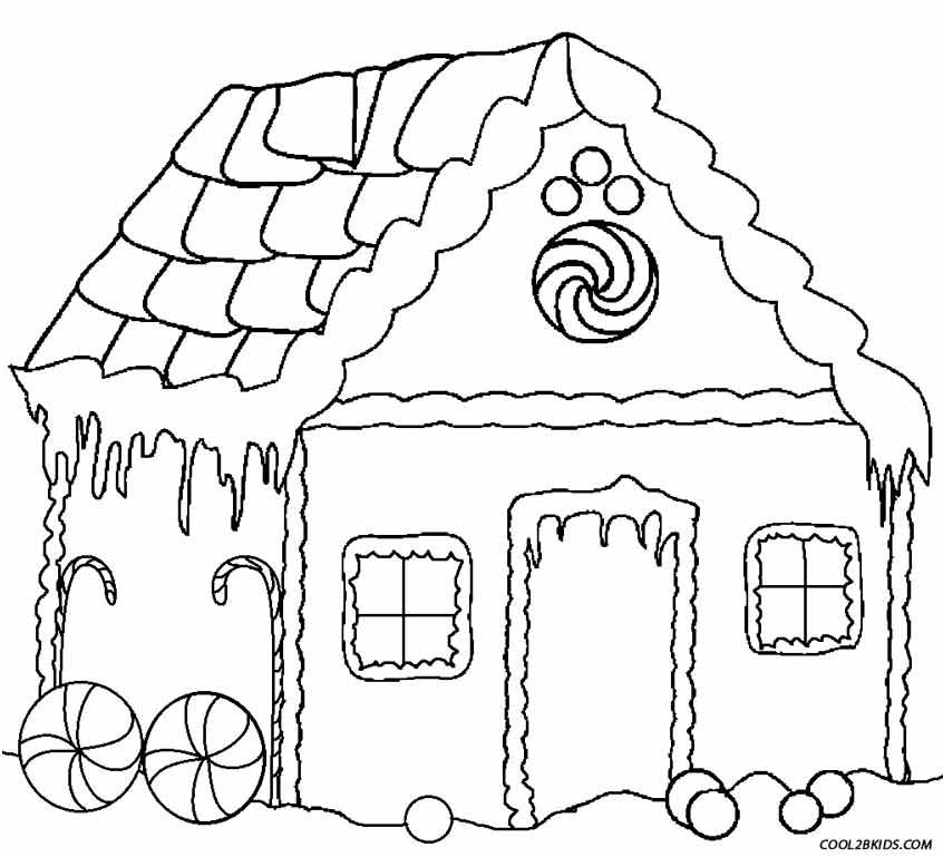 Gingerbread House Coloring Pages Barbie Coloring Pages House