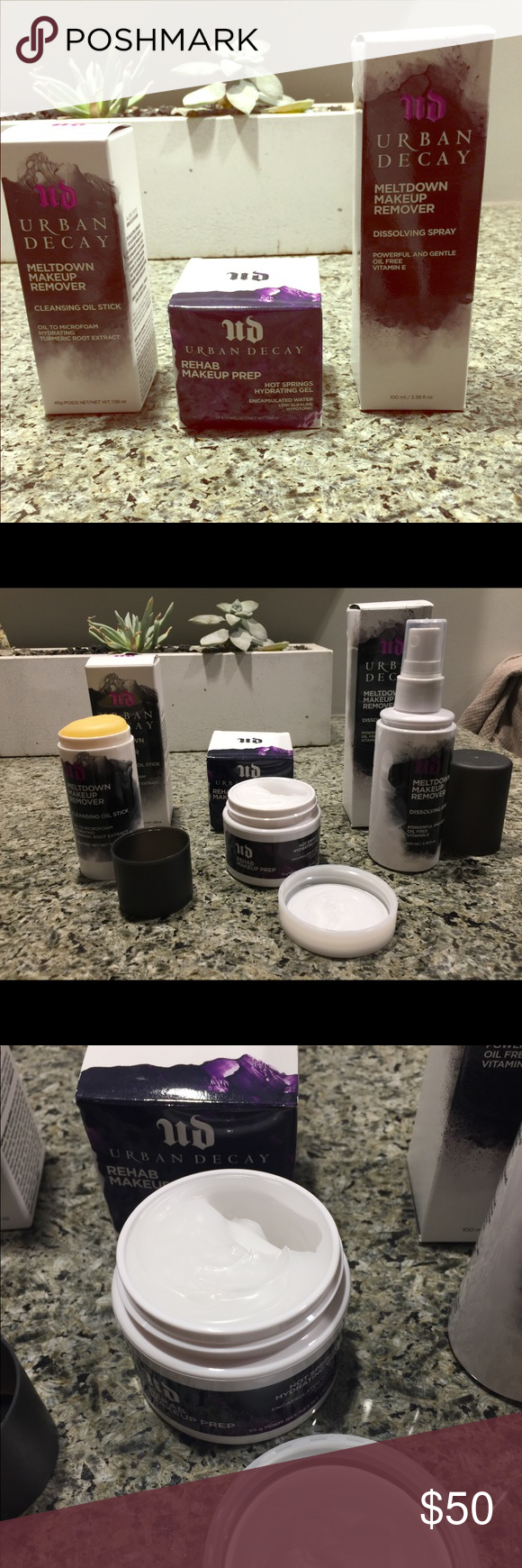 Urban Decay Meltdown Remover and Rehab Makeup Prep 3 full
