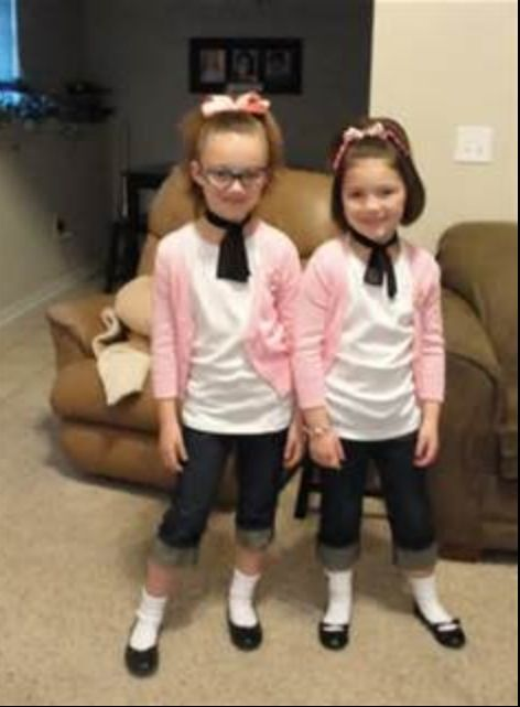 687f8d78bee7 50s dress-up day. How cute are they? | halloween! in 2019 | Sock hop ...