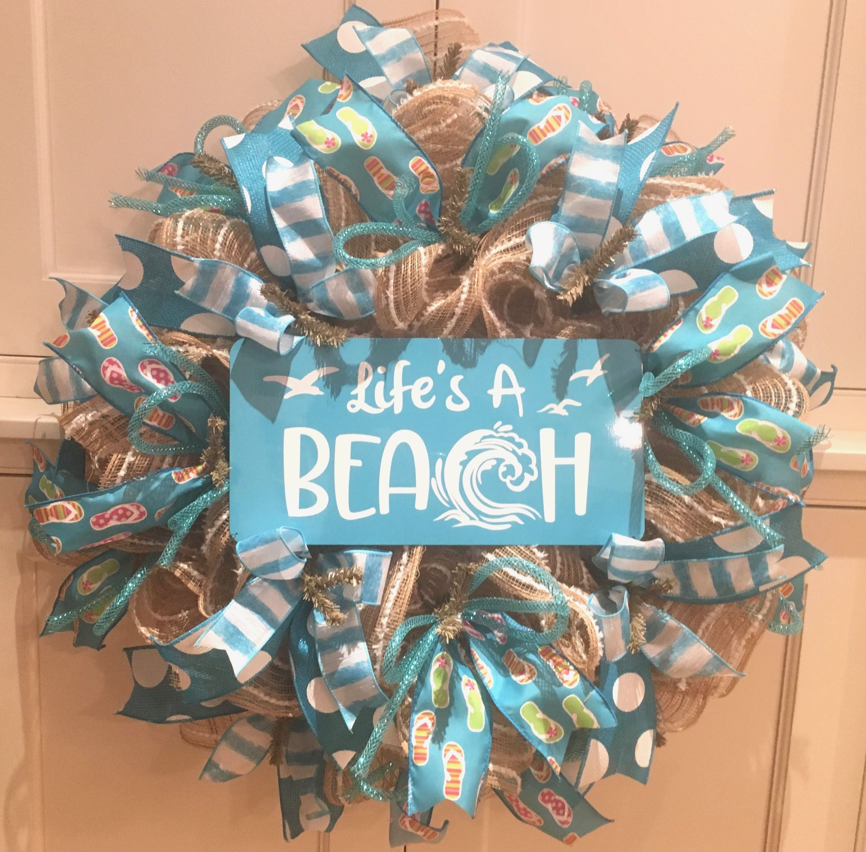 coastal to starfish mesh deco wreaths house order door made front beach pin doors handmade wreath