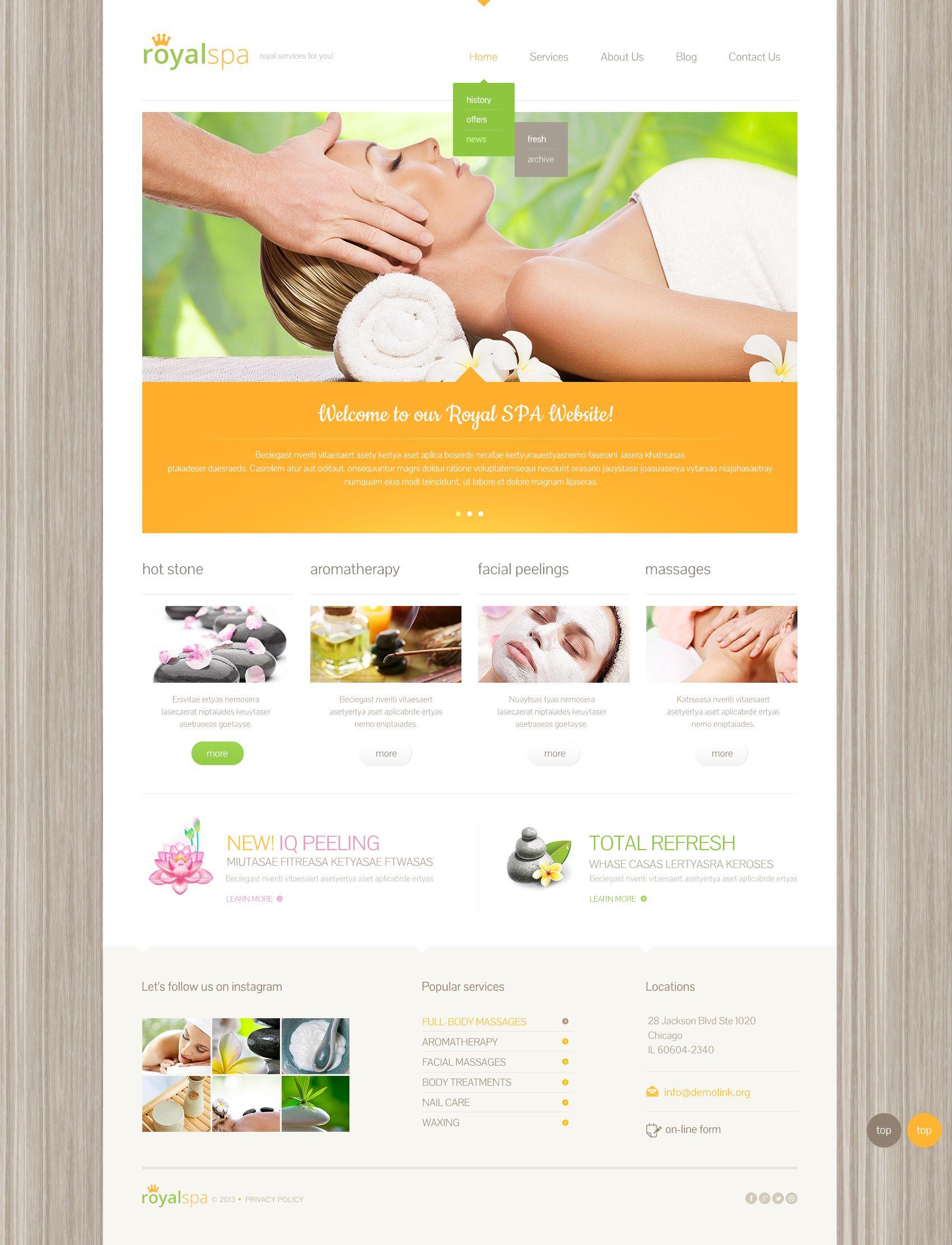 Spa Salon Free WordPress Theme Freetemplatesonline Templates