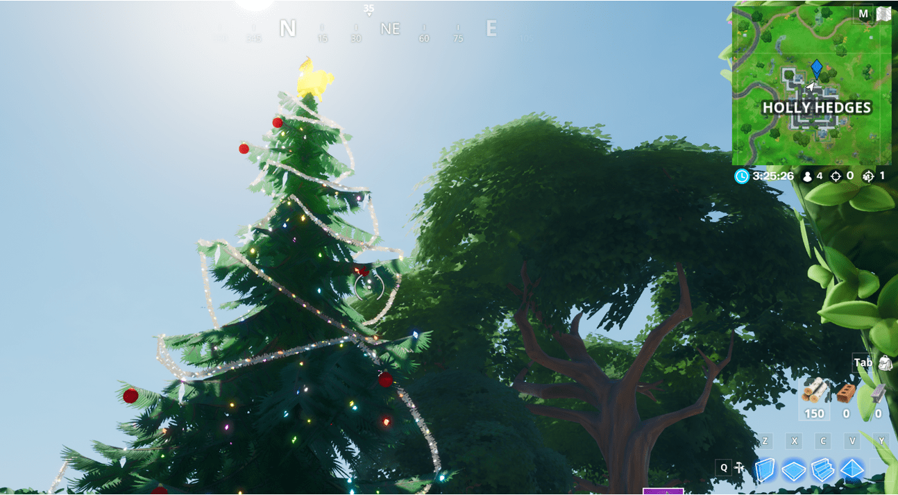 Fortnite Holiday Trees Map Locations How And Where To Dance At Holiday Trees In Different Named Locations Here Are All Of The H Holiday Tree Holiday Tree Map