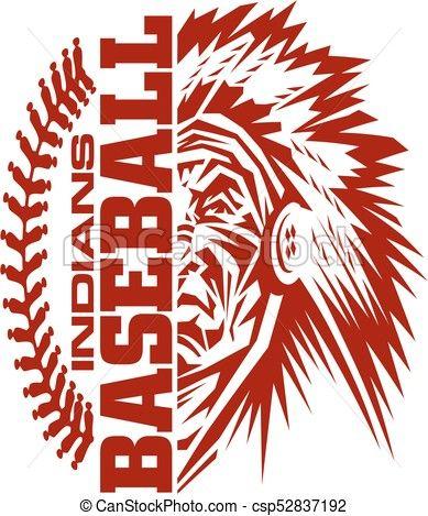 vector indians baseball stock illustration royalty free rh pinterest co uk