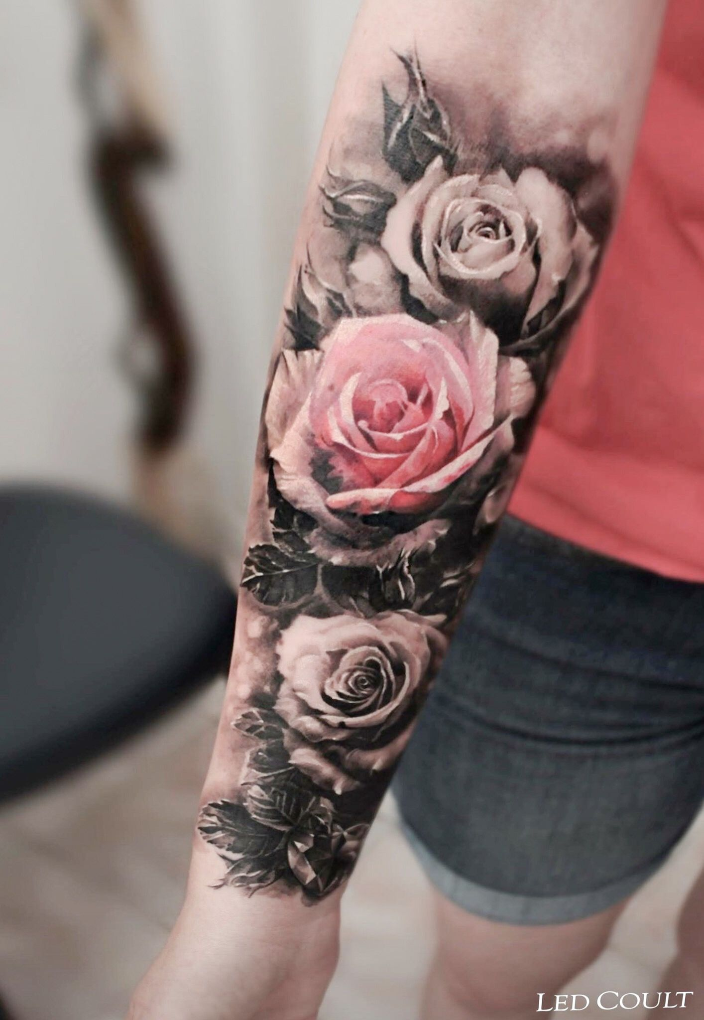 98bf71169 ♚♛нσυѕтσиqυєєивяι♛♚ Female Tattoos, Forarm Tattoos For Women, Rose Tattoos  For