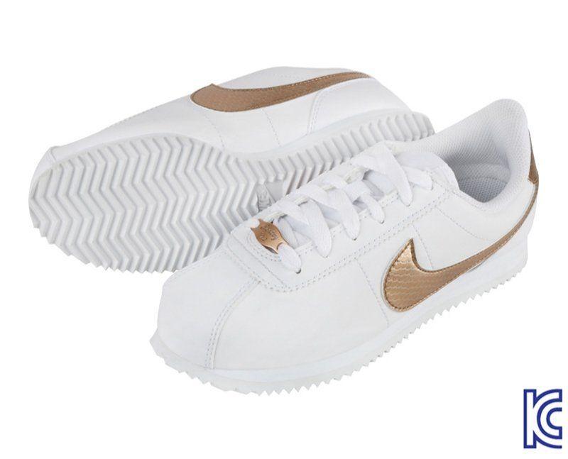 bruscamente ligero Superior  Nike Cortez Basic SL EP GS ทรงสวย ใส่สบาย ราคาเบาๆ สีขาวทอง 👟 Size  230,235,240 mm   รองเท้า