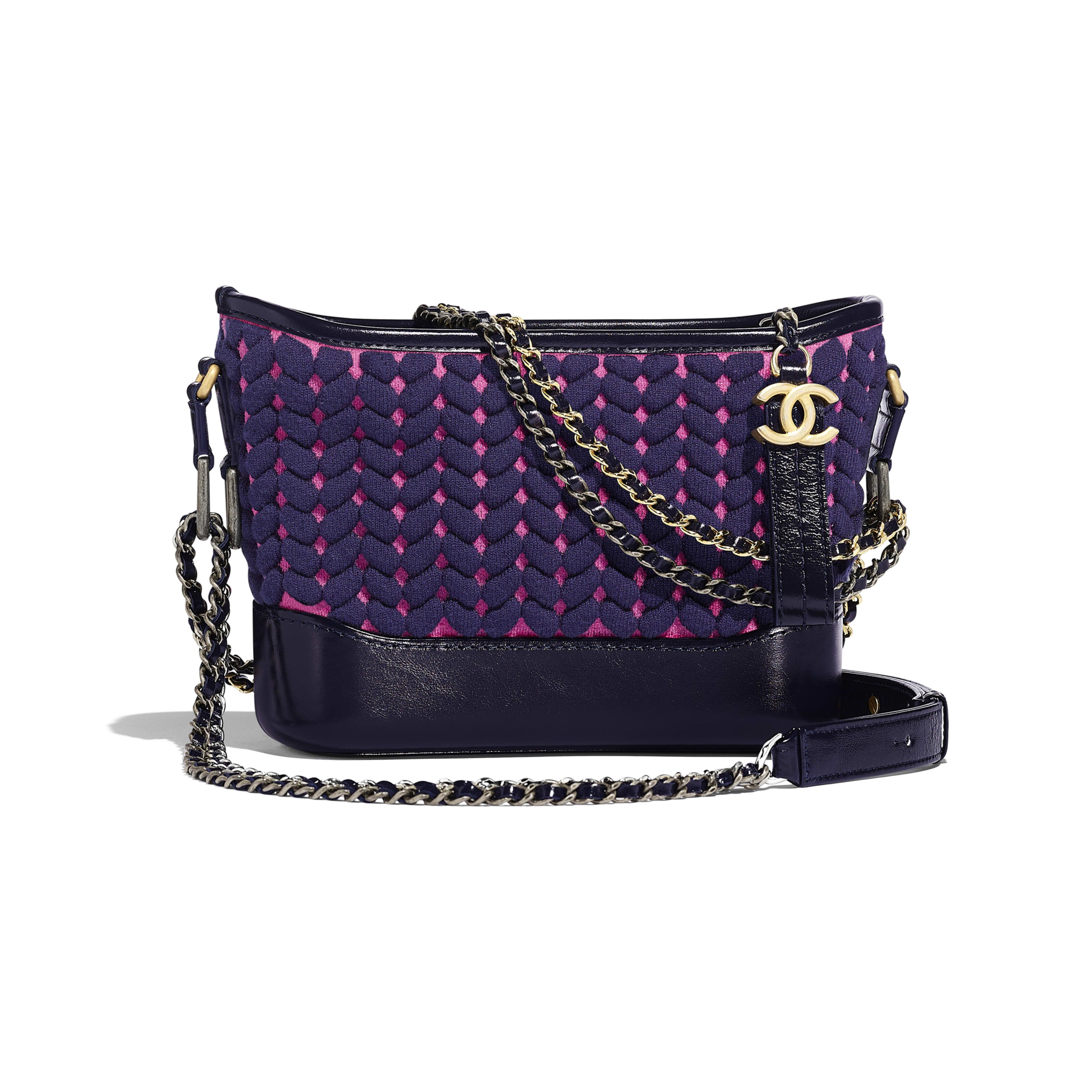ad7d7980a85476 CHANEL'S GABRIELLE Small Hobo Bag - Blue & Pink - Wool, Calfskin, Gold-Tone  & Silver-Tone Metal - Default view - see full sized version