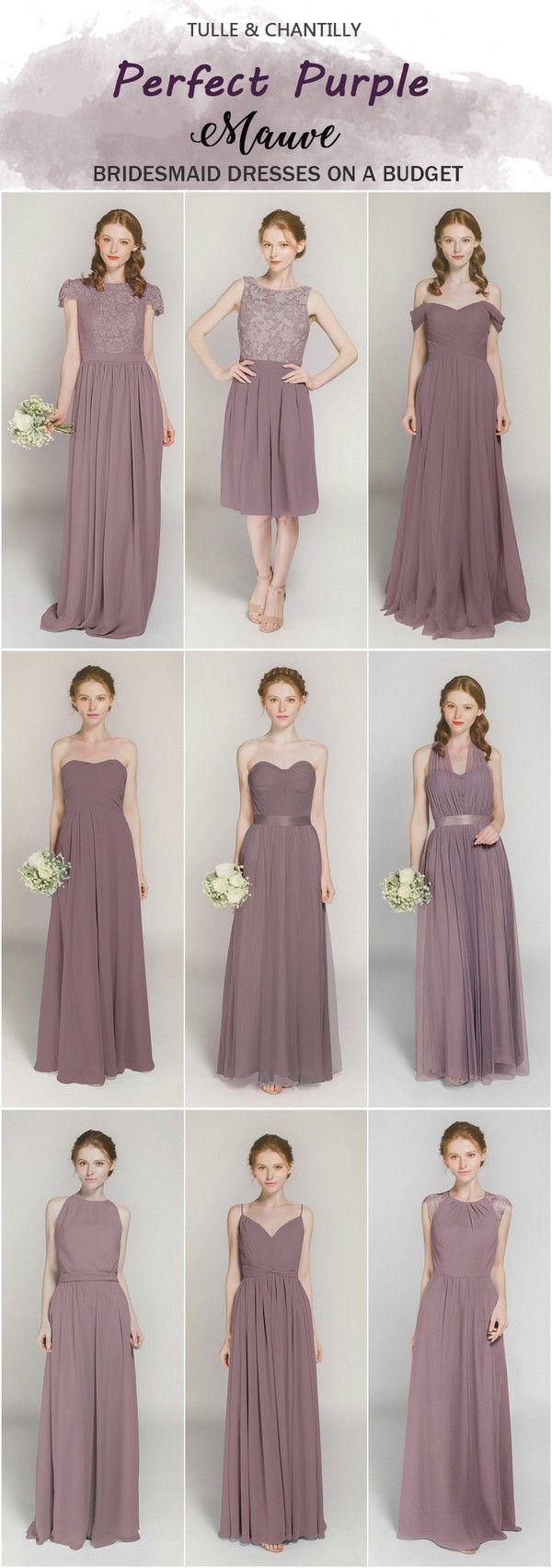 Purple Bridesmaid Dresses On Sale